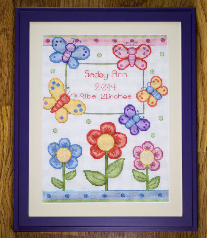 butterfly flower crossstich