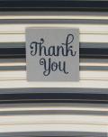 Blue stripe wallpaper thank you