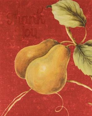 pears on wallpaper