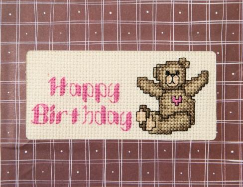 teddy card full front