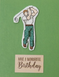 front of golfer card