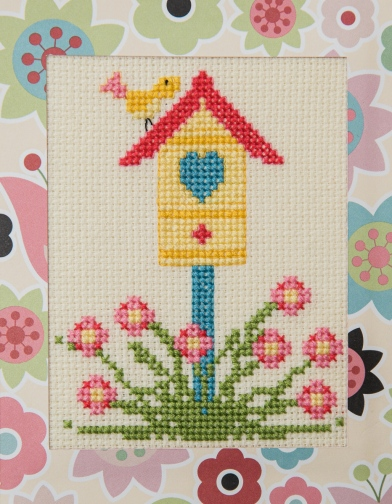full front of birdhouse card