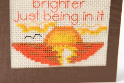 sunset stitching bottom of card