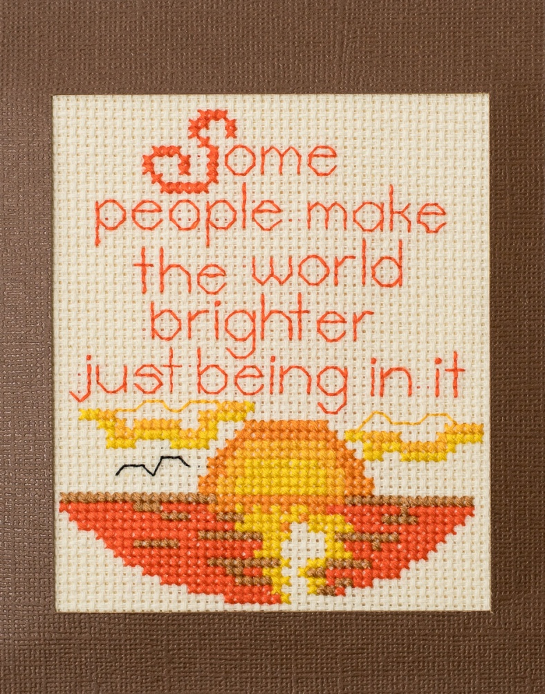 full front of brighter cross stitch