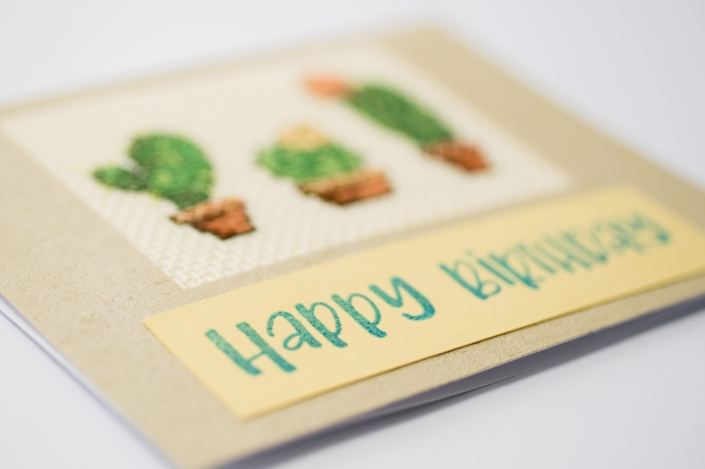 cactus card laying down
